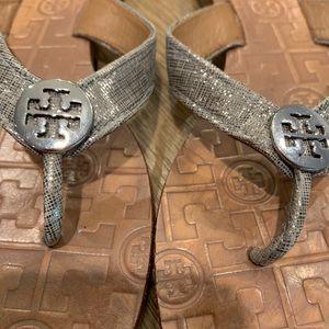 Tory Burch Shoes - Tory Burch Thora mattalic leather thong